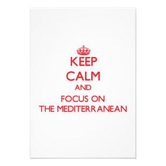 Guarde la calma y el foco en el mediterráneo anuncio