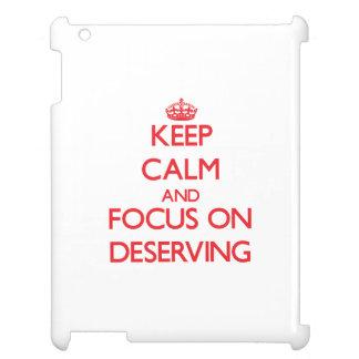 Guarde la calma y el foco en el mérito