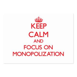 Guarde la calma y el foco en el Monopolization Tarjeta De Visita