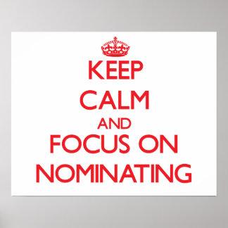 Guarde la calma y el foco en el nombramiento