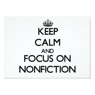 Guarde la calma y el foco en el Nonfiction Invitacion Personal