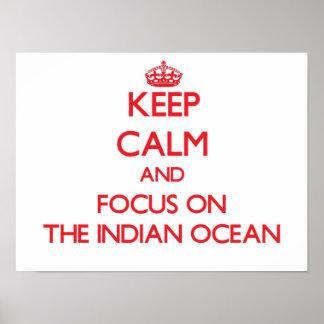 Guarde la calma y el foco en el Océano Índico Impresiones