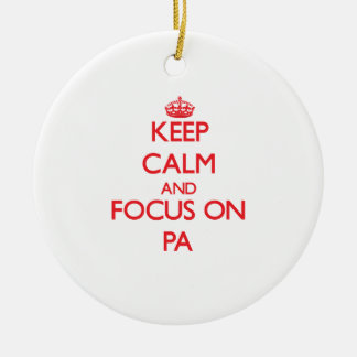 Guarde la calma y el foco en el PA Ornamento De Reyes Magos