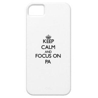 Guarde la calma y el foco en el PA iPhone 5 Cobertura
