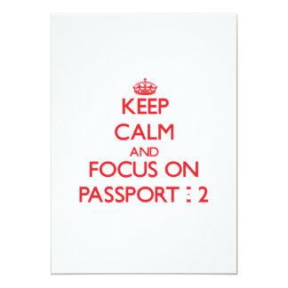 Guarde la calma y el foco en el pasaporte - 2 invitacion personal