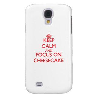 Guarde la calma y el foco en el pastel de queso