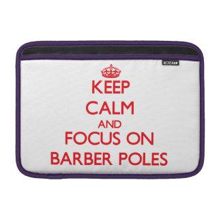 Guarde la calma y el foco en el peluquero postes funda macbook air