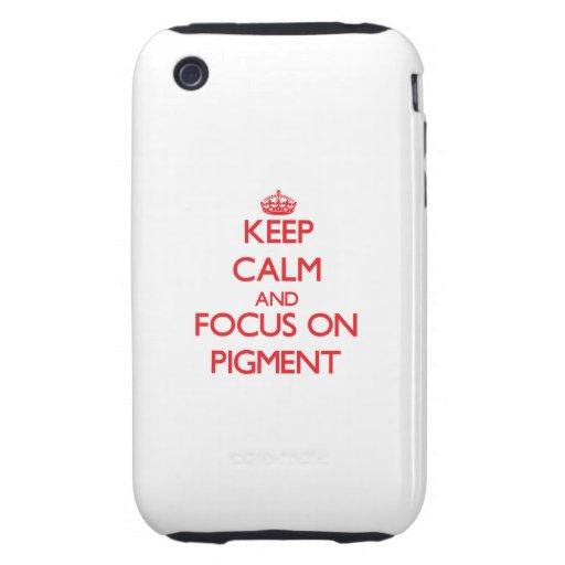 Guarde la calma y el foco en el pigmento iPhone 3 tough carcasa