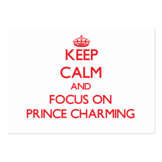 Guarde la calma y el foco en el príncipe el encant plantillas de tarjetas personales