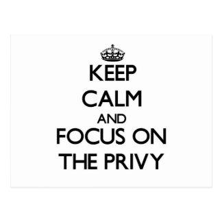 Guarde la calma y el foco en el privado postal
