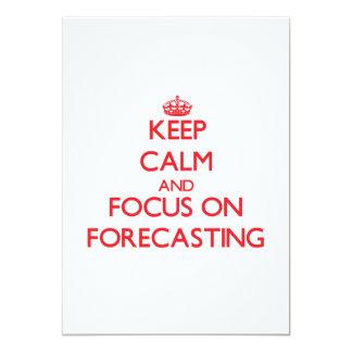 Guarde la calma y el foco en el pronóstico invitación