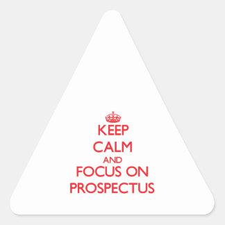 Guarde la calma y el foco en el prospecto