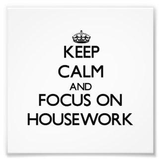 Guarde la calma y el foco en el quehacer doméstico