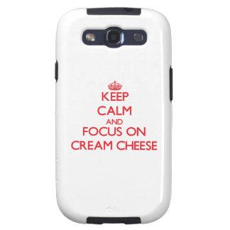 Guarde la calma y el foco en el queso cremoso