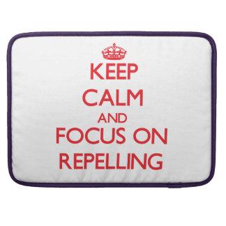 Guarde la calma y el foco en el rechazo fundas para macbooks