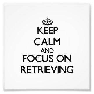Guarde la calma y el foco en el recuperación