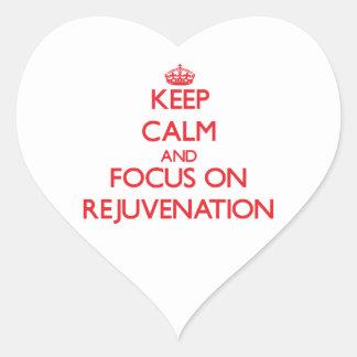 Guarde la calma y el foco en el rejuvenecimiento colcomanias corazon personalizadas