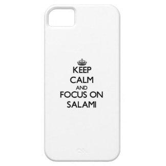 Guarde la calma y el foco en el salami iPhone 5 Case-Mate coberturas