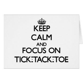 Guarde la calma y el foco en el Señal-Tachuela-Ded