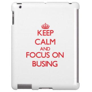 Guarde la calma y el foco en el servicio de transp funda para iPad