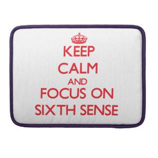 Guarde la calma y el foco en el sexto sentido fundas macbook pro