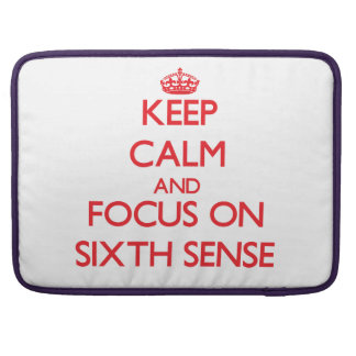 Guarde la calma y el foco en el sexto sentido funda macbook pro