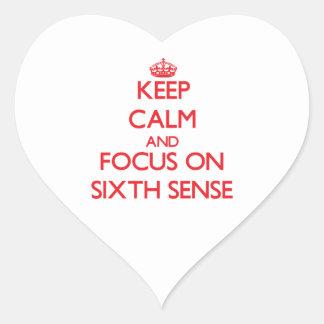Guarde la calma y el foco en el sexto sentido
