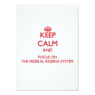 """Guarde la calma y el foco en el sistema de Federal Invitación 5"""" X 7"""""""