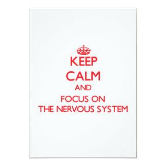 """Guarde la calma y el foco en el sistema nervioso invitación 5"""" x 7"""""""