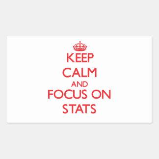 Guarde la calma y el foco en el Stats Rectangular Altavoz