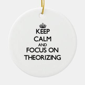 Guarde la calma y el foco en el Theorizing