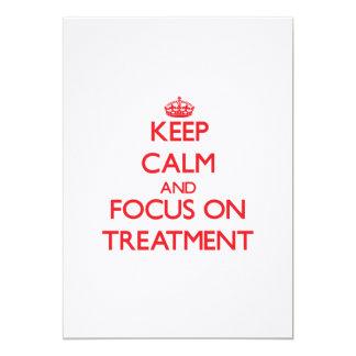 Guarde la calma y el foco en el tratamiento anuncios personalizados