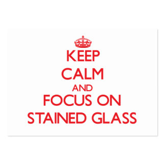 Guarde la calma y el foco en el vitral