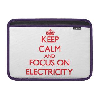 Guarde la calma y el foco en electricidad fundas MacBook