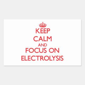 Guarde la calma y el foco en ELECTRÓLISIS Rectangular Altavoz