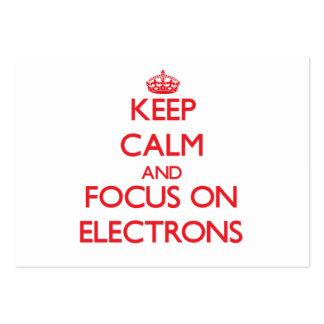 Guarde la calma y el foco en ELECTRONES Tarjetas De Negocios