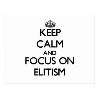 Guarde la calma y el foco en ELITISMO Postal