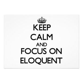 Guarde la calma y el foco en ELOCUENTE Anuncios Personalizados