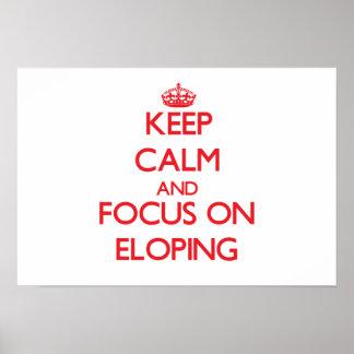 Guarde la calma y el foco en ELOPING Impresiones