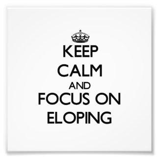Guarde la calma y el foco en ELOPING Impresión Fotográfica