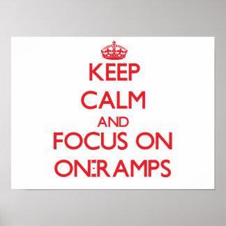 Guarde la calma y el foco en En-Rampas Impresiones