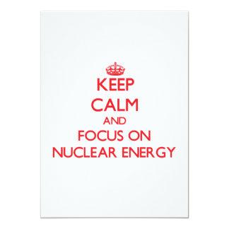 Guarde la calma y el foco en energía nuclear invitaciones personales