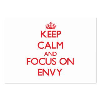 Guarde la calma y el foco en ENVIDIA Tarjeta De Visita