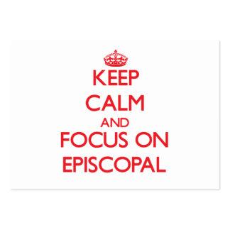 Guarde la calma y el foco en EPISCOPAL Tarjeta De Visita