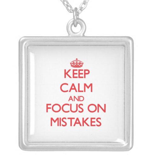 Guarde la calma y el foco en errores joyeria personalizada