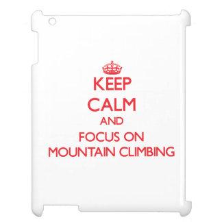 Guarde la calma y el foco en escalada
