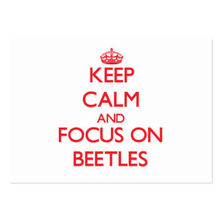 Guarde la calma y el foco en escarabajos