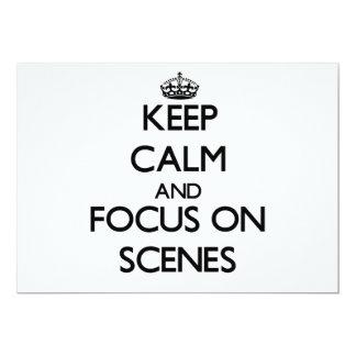 Guarde la calma y el foco en escenas comunicados personalizados