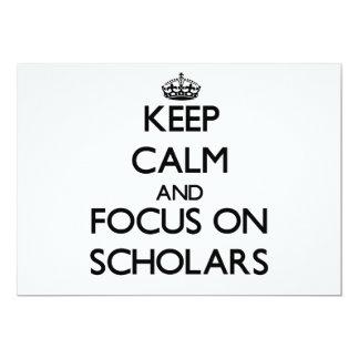 Guarde la calma y el foco en escolares comunicado personalizado