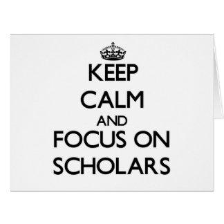 Guarde la calma y el foco en escolares felicitacion